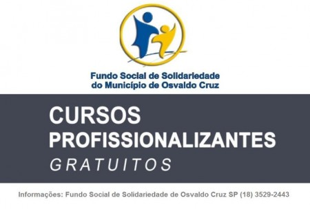 Começam hoje as inscrições para seis cursos profissionalizantes do Fundo Social de Solidariedade de OC