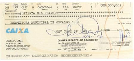Câmara Municipal de Osvaldo Cruz autoriza repasse mais R$ 80 mil para a Santa Casa