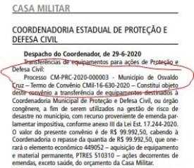 Defesa Civil de Osvaldo Cruz deve receber veículo no valor de R$ 100 mil