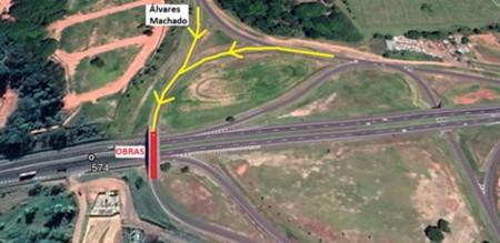 Obras de reparo em viaduto na SP-270 devem interferir em trânsito em Álvares Machado