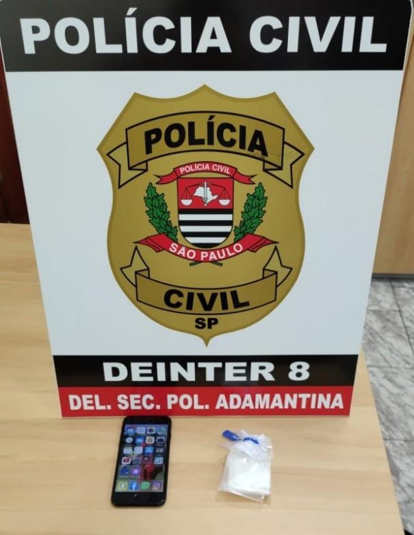 Polícia Civil apreende drogas e celular em Operação de combate ao tráfico em Osvaldo Cruz e Inúbia Paulista