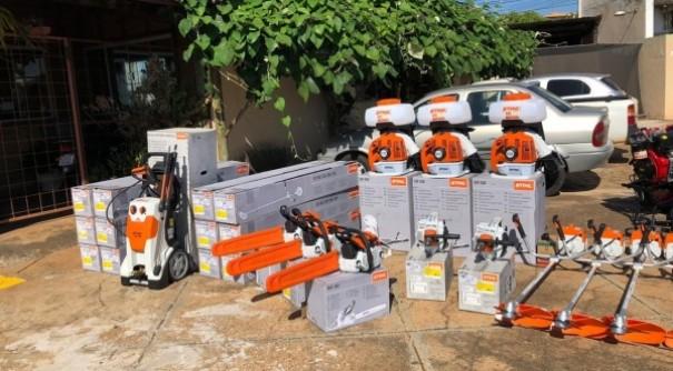 Prefeitura de Adamantina adquire roçadeiras, motosserras, sopradores e outros equipamentos de manutenção
