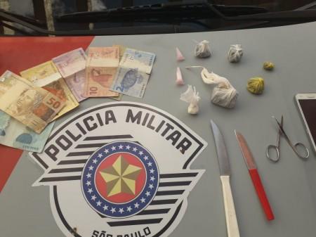 Polícia Militar prende indivíduo em flagrante por tráfico de drogas, em Lucélia