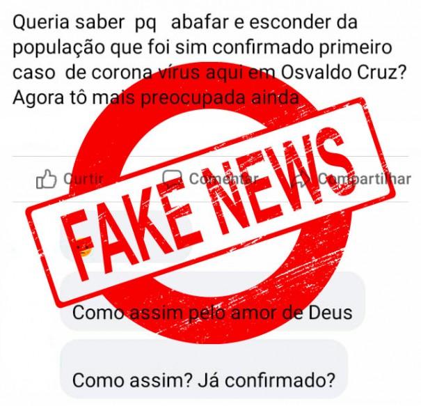 Fake News: Osvaldo Cruz não tem casos confirmados de Covid-19