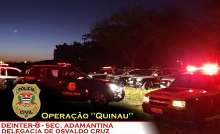 Justiça de Osvaldo Cruz mantém prisão dos 19 presos na operação Quinau