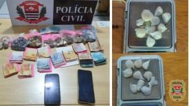 Em família: idosa de 63 anos e seu filho de 37 anos são presos por tráfico de drogas em Dracena