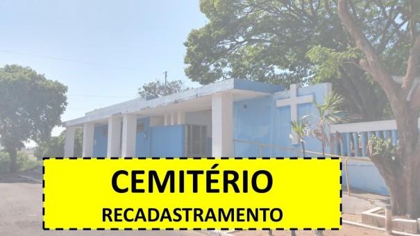 Proprietários de túmulos no Cemitério de Lucélia devem fazer recadastramento