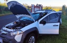 Motorista fica ferido em acidente na vicinal que liga Tupã e Quatá
