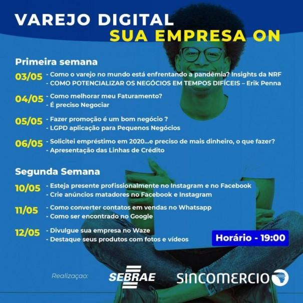 Aceoc, Sincomércio e Sebrae realizam nesta semana o evento 'Varejo Digital'