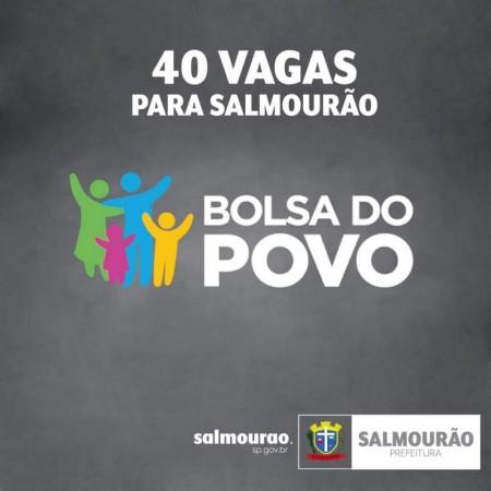 Programa Bolsa Trabalho oferece 40 vagas para Salmourão