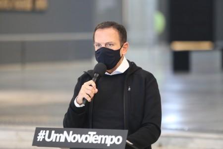 Doria diz que uso de máscara segue obrigatório até o fim do ano em SP