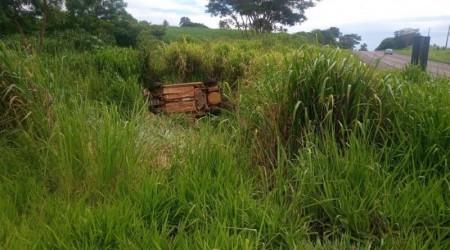 Motorista perde o controle da direção e cai com veículo ribanceira na SP 425 em Rinópolis