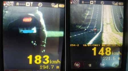 PM Rodoviária flagra moto a 183 km/h na região; operação registra 200 excessos de velocidade