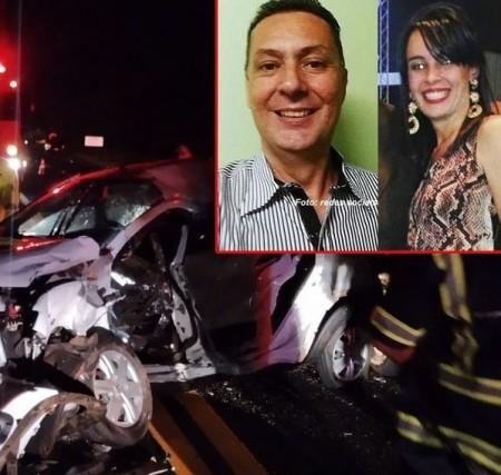 Casal morre em grave acidente na SP-294