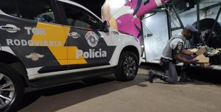 Fiscalização policial em ônibus localiza tabletes de pasta base de cocaína e prende mulher em flagrante