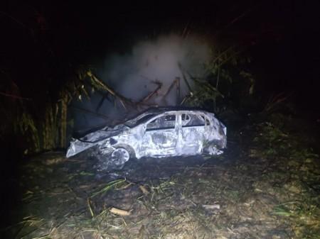 Homem morre carbonizado em acidente de trânsito na SP-563 em Presidente Venceslau