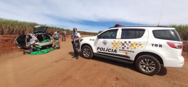 Porção de cocaína e quase 500 kg de maconha são apreendidos durante fiscalização policial em Iepê