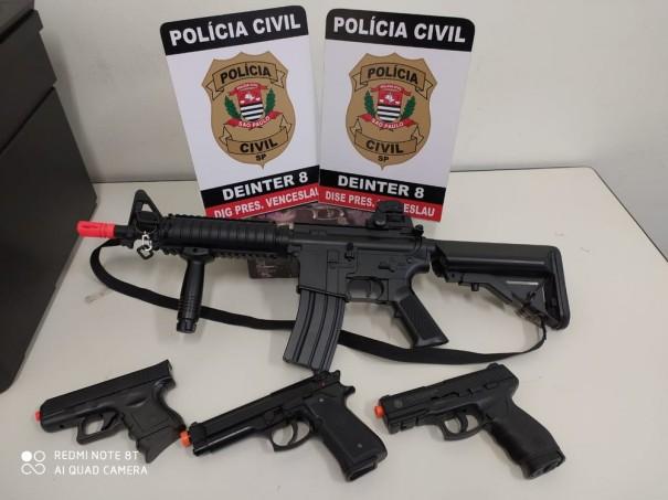Ostentação em videoclipe leva à apreensão de armas de airsoft em Presidente Venceslau