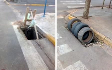 Polícia Civil de Bastos identifica acusado de furto de grades de bueiros