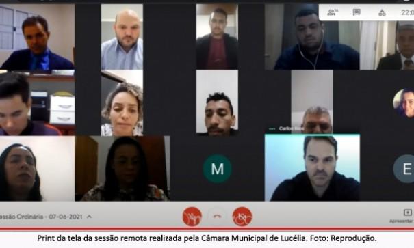 Câmara de Lucélia realiza sessão remota e por 6×5 mantém veto ao PL do uso das pulseiras em pacientes com Covid-19