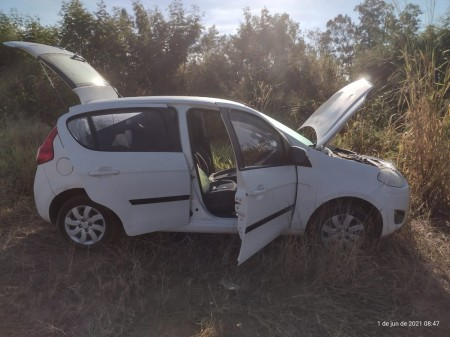 Carro roubado de motorista por aplicativo é localizado pela PM em Presidente Prudente