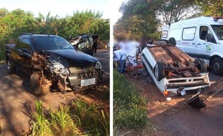 Motoristas ficam feridos em colisão traseira na vicinal Bastos - Iacri