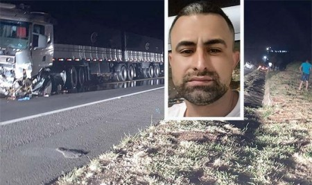Morador de Rancharia de 38 anos morre em acidente envolvendo carreta e carro na SP-284