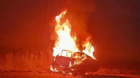 Casal de idoso morre carbonizado após choque entre carro e caminhão carregado com etanol, na região