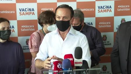 Doria diz que SP entrou na pior semana desde o início da pandemia e não descarta nenhuma medida