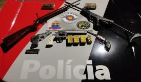 Após denúncia, Força Tática apreende mais de 300 munições e armas de fogo em Junqueirópolis