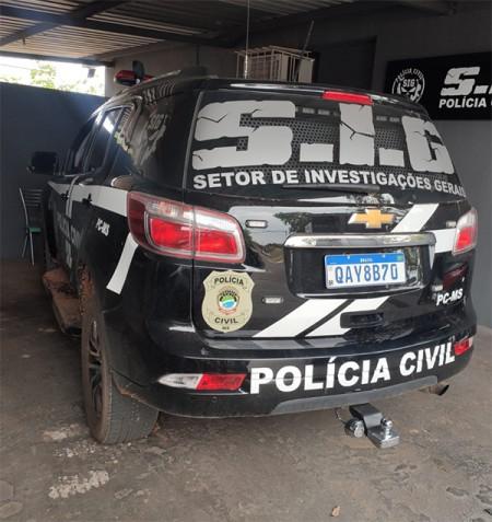 Após amplo trabalho investigativo, Polícia Civil prende traficante que abandonou pick-up com drogas