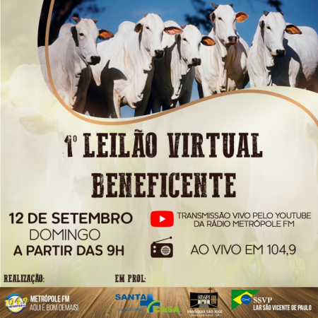 Leilão Virtual Beneficente arrecada mais de R$200 mil em prol a entidades de Osvaldo Cruz