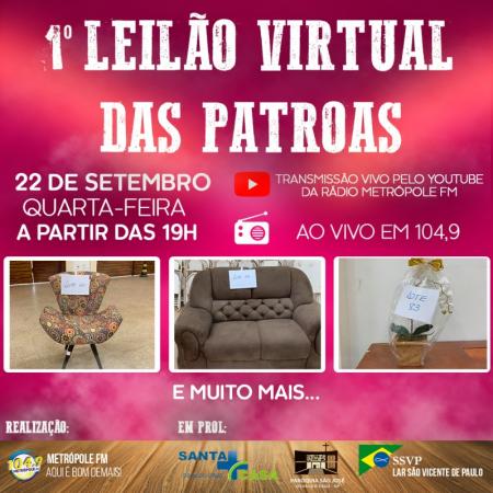 Metrópole FM e entidades de Osvaldo Cruz realizam 'Leilão das Patroas'