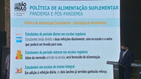 Governo de SP vai servir merenda extra para 700 mil alunos da rede pública