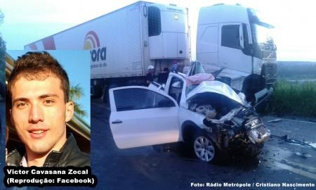 Grave acidente próximo a Parapuã deixa uma vítima fatal
