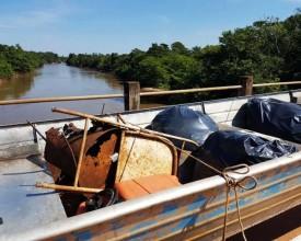 Lions retira quase meia tonelada de lixo em mais uma ação ambiental no rio Aguapeí, em Flórida Paulista
