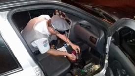 Costureira é flagrada com droga em carro pela PM Rodoviária