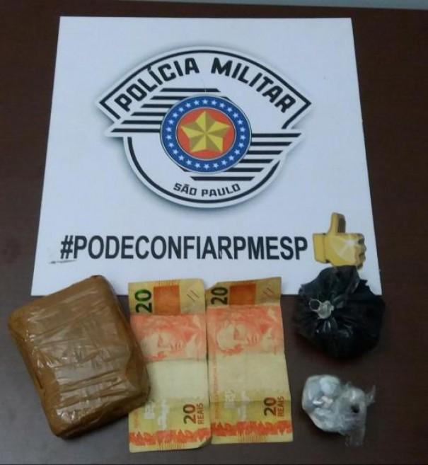 Polícia prende traficante em Parapuã na rua das Violetas