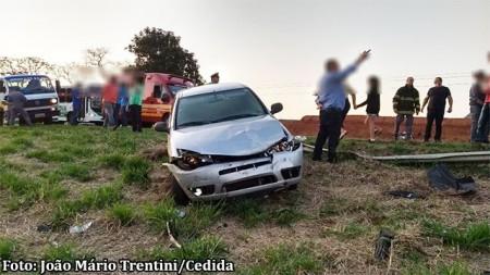 Mulher fica ferida em acidente na SP-294 em Tupã