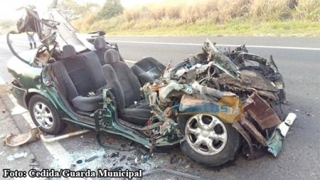 Colisão frontal homem na SP-284 mata um homem em Rancharia