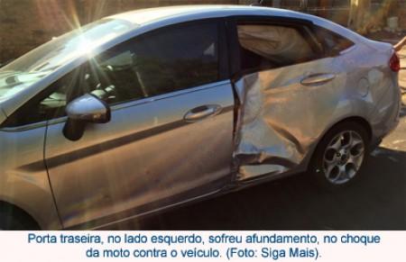 Novo acidente na vicinal Adamantina/Lucélia envolve carro e moto