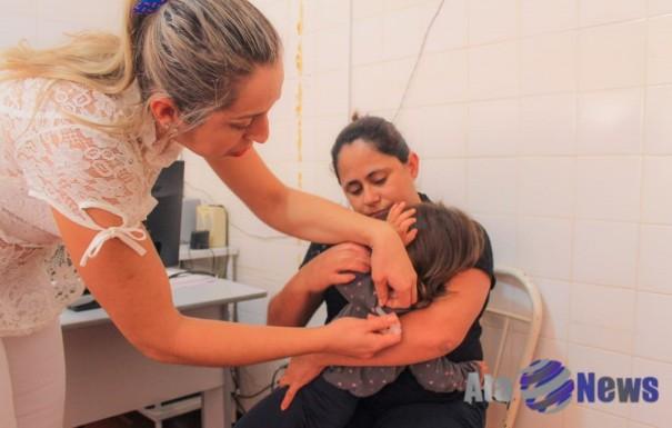 Secretaria de Saúde de Salmourão imuniza 60% das crianças no primeiro Dia D