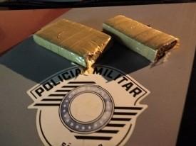 Polícia Militar de OC encontra 1,8 Kg de maconha no bairro Agostinho Caliman