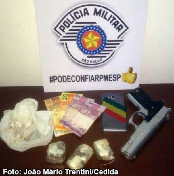 Jovem de 19 anos é preso pela Força Tática da Polícia Militar de Tupã