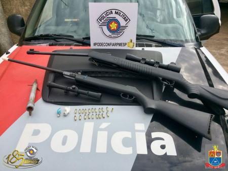 Polícia Militar prende homem em Pacaembu por tráfico de drogas e porte ilegal de armas