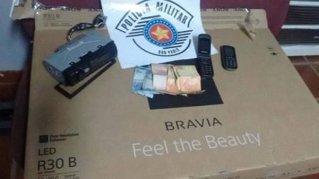Polícia Militar registra flagrante de furto qualificado a uma residência em Bastos