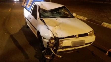 Homem morre após acidente entre bicicleta motorizada e picape em Presidente Epitácio