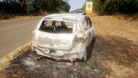 Polícia Civil investiga furto e incêndio em veículo encontrado abandonado em vicinal de Dracena