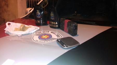 Após denúncia, Polícia Militar de Osvaldo Cruz prende traficante com quase 1,5 kg de Crack