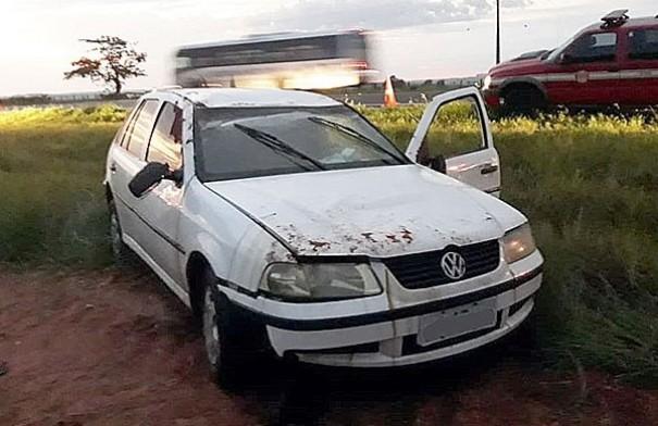 Motorista de Herculândia fica ferido em acidente na SP-294